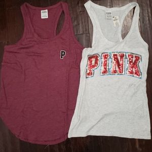 2 PINK by Victoria Secret Tank Tops 1 NWT XS